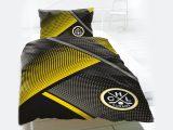 Hc Lugano Bettwsche Im Schwarz Gelb Design Gnstig Bettwaeschech throughout measurements 1800 X 1384