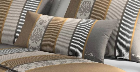 Joop Ornament Stripes Bettwsche Muskat 4022 17 Slewo intended for size 1500 X 1200