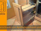 Kchenschrank Zum Apothekerschrank Umbauen Diy Kitchen Drawer intended for measurements 1280 X 720