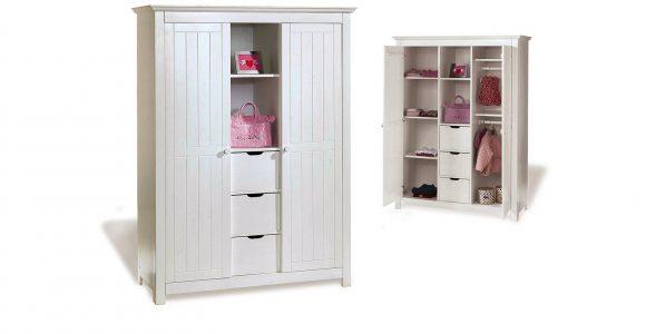 Kleiderschrank Frs Kinderzimmer Aus Weier Fichte Nina intended for size 1600 X 873