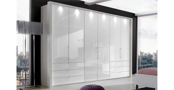 Kleiderschrank Loft Schrank In Wei Und Weiglas 300 Cm pertaining to size 1500 X 844
