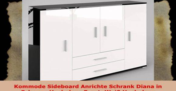 Kommode Sideboard Anrichte Schrank Diana In Schwarz Hochglanz Front for sizing 1920 X 1080