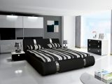 Komplett Schlafzimmer Novalis Ii Hochglanz Schwarz Wei in dimensions 1200 X 800