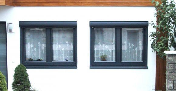 Kunststofffenster Anthrazit Fenster Mit Vorsatzrollladen In throughout proportions 1600 X 1200