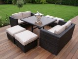 Madrid 4 8 Seater Rattan Cube Sofa Set Pertaining To Garden regarding proportions 1494 X 1000