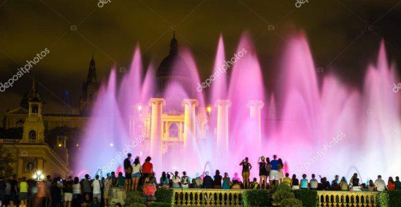 Magische Brunnen Licht Show In Barcelona Stockfoto Bloodua intended for measurements 1600 X 1167