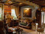 Malerei Ber Kleinen Franzsischen Stil Sofa Holzbalken 80er Jahre intended for measurements 1288 X 1390