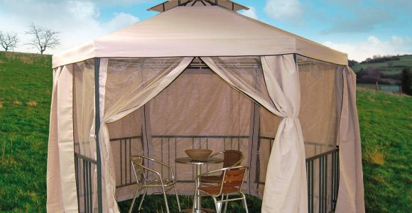 Metall Pavillon Gartenpavillon 6 Eckig 270×347 Cm Fliegenschutz pertaining to proportions 1600 X 1600