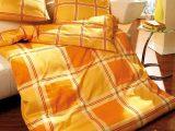 Microfaser Seersucker Kaeppel Bettwsche 135×200 Provence Mandarine in proportions 800 X 1000