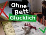 Minimalismus Schlafzimmer Bodenbett Mit Kapokmatratze Fr Das with regard to size 1280 X 720