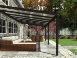 Moderne Terrassenberdachung In Matt Anthrazit 806 X 4 Meter Mit throughout size 1280 X 720