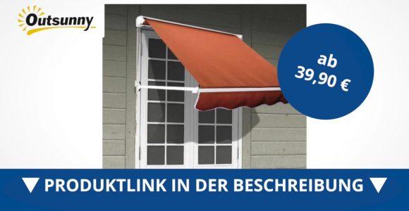 Outsunny Alu Markise Klemmmarkise Fenster Sonnenschutz 122 X 70 Cm within size 1280 X 720