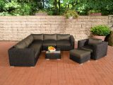 Poly Rattan Gartenmbel Lounge Set Ariano Schwarz Garten Loungembel intended for sizing 1200 X 800
