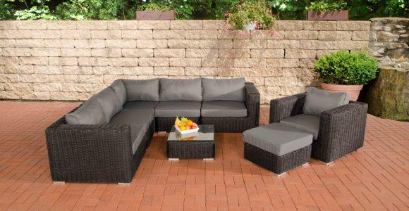 Poly Rattan Gartenmbel Lounge Set Ariano Schwarz Garten Loungembel pertaining to sizing 1200 X 800