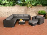 Poly Rattan Gartenmbel Lounge Set Ariano Schwarz Garten Loungembel throughout proportions 1200 X 800