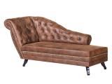 Recamiere Benavente Antiklederoptik Braun Armlehne Ottomane Lounge inside dimensions 1100 X 1100