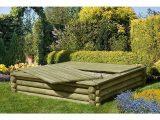 Sandkasten Holz 180×180 Cm Premium Qualitt Aus Palisaden Mit Deckel within size 900 X 900