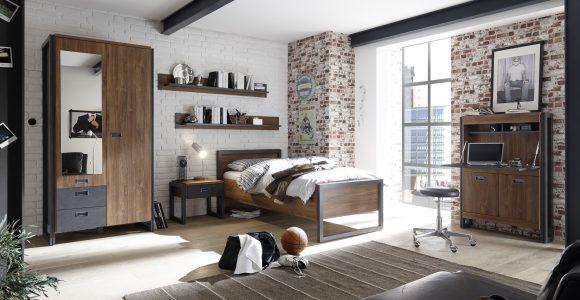 Schlafzimmer Jugendzimmer Industrial Style Bett 90 X 200 Stirling within measurements 3508 X 2223