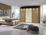 Schlafzimmer Komplett In Eiche Teilmassiv Mit Schwebebett Temir inside proportions 1600 X 874