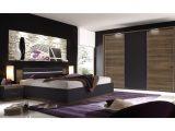 Schlafzimmer Mit Bett 180 X 200 Cm Columbia Nussbaum Schwarz Matt with measurements 1250 X 875