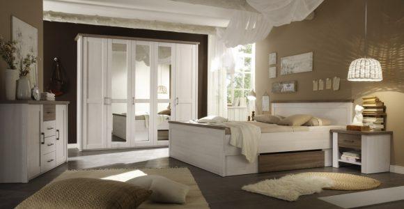 Schlafzimmer Mit Bett 180 X 200 Cm Pinie Weiss Trffel Woody 62 inside sizing 1250 X 875