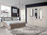 Schlafzimmer Set Mit Boxspringbett 180x200cm In Greige Mit Weiem regarding proportions 2000 X 1230