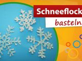 Schneeflocke Basteln Bastelideen Winter Gratis Bastelanleitung Avec pertaining to proportions 1280 X 720