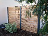 Sichtschutzzaun Holz Metall Gnstig Lrche Hhe Grau Wei Aus Holz in dimensions 1440 X 1080