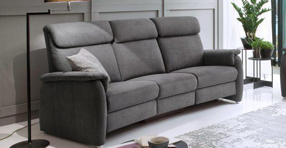 Sofa 3600 3 Sitzer Stoff Grau Mit Federkern Und Nosagfederung 222 Cm in sizing 1500 X 844