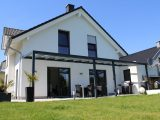 Terrassenberdachung Alu 10mm Sicherheitsglas Vsg Glas Klar 8m Breit with dimensions 1920 X 1280