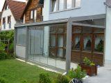 Terrassenberdachung Mit Schiebetren Glas Wohlfhlorte Im Garten inside sizing 1900 X 1067