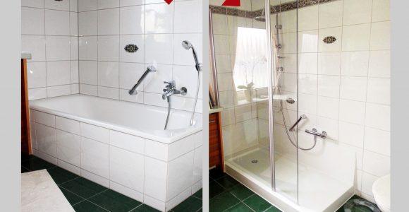 Wanne Zur Dusche Badewanne Raus Dusche Rein Bad Teilsanierung with regard to measurements 2048 X 1540