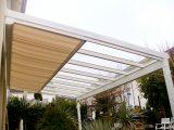 Weie Terrassenberdachung Mit Vsg Und Elektrischer Markise Prima pertaining to dimensions 1200 X 900