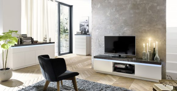 Wohnzimmer Set Tv Lowboard Sideboard Und Kommode Weiss Matt Grau inside sizing 5440 X 4080