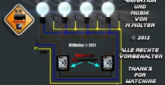 Zwei Lichtschalter Und Vier Lampen Anschlieen Am Schaubild Erklrt with size 1280 X 720